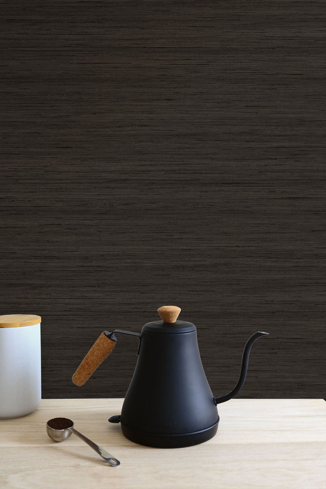 TC70326 kitchen brown shantung silk embossed vinyl wallpaper from the More Textures collection by Seabrook Designs