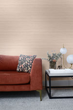 TC70331 sofa pink shantung silk embossed vinyl wallpaper from the More Textures collection by Seabrook Designs