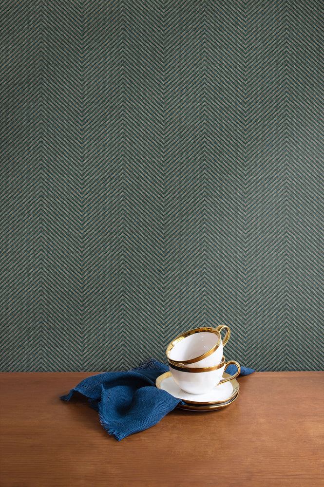 TC70414 kitchen green cafe chevron embossed vinyl wallpaper from the More Textures collection by Seabrook Designs