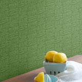 TC70504 kitchen green seagrass weave embossed vinyl wallpaper from the More Textures collection by Seabrook Designs