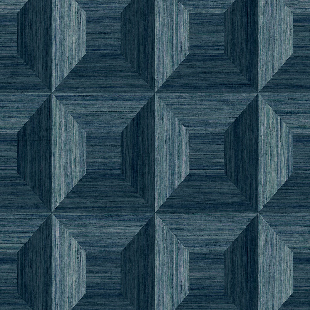 TC70602 blue squared away geometric embossed vinyl wallpaper from the More Textures collection by Seabrook Designs