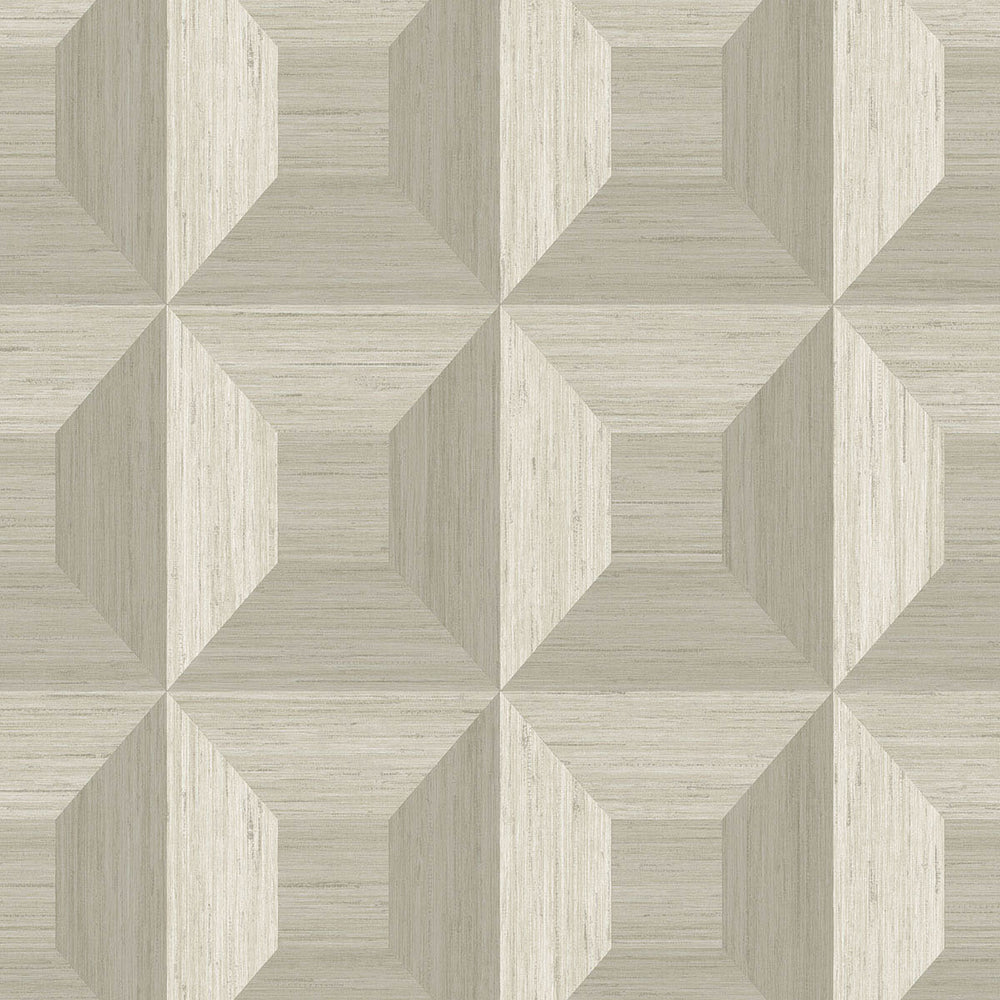 TC70605 tan squared away geometric embossed vinyl wallpaper from the More Textures collection by Seabrook Designs