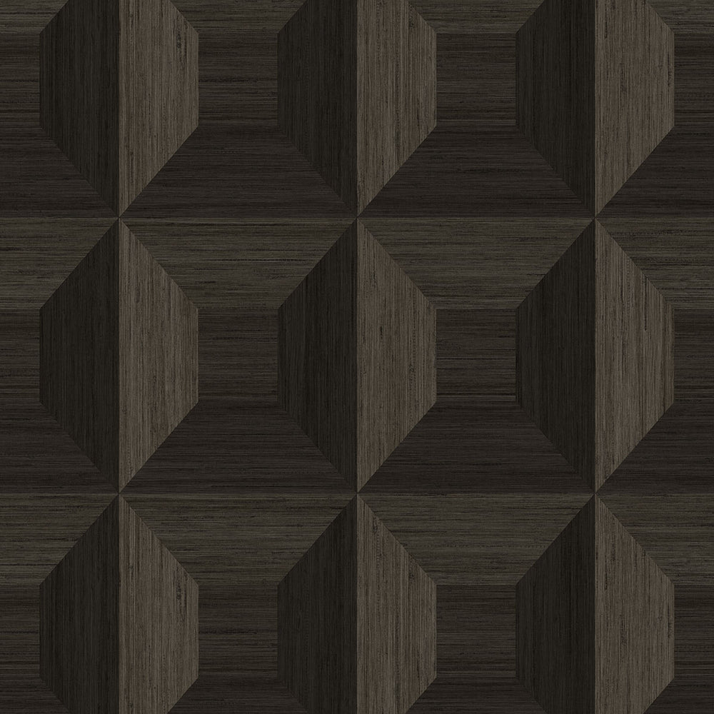 TC70606 brown squared away geometric embossed vinyl wallpaper from the More Textures collection by Seabrook Designs