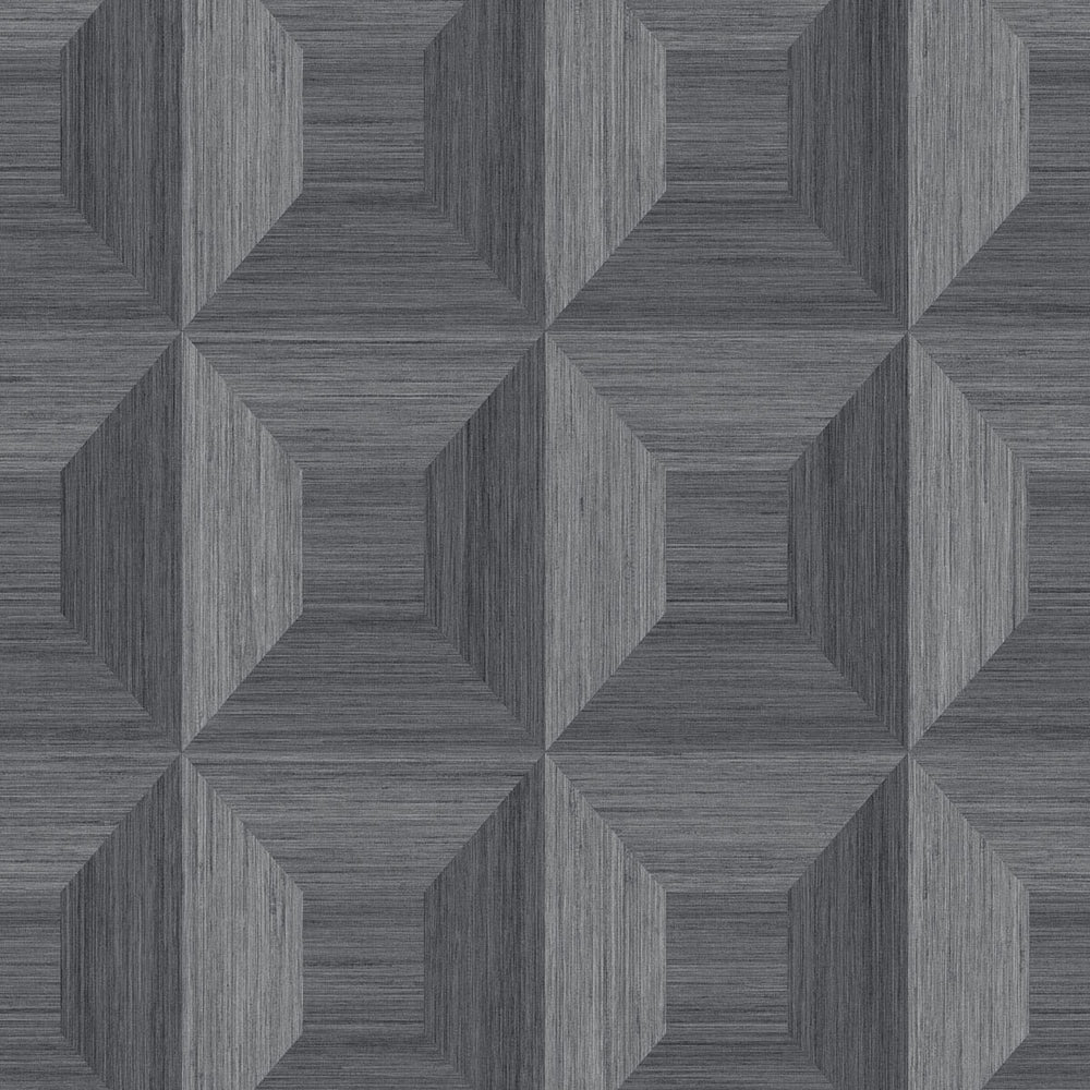 TC70608 gray squared away geometric embossed vinyl wallpaper from the More Textures collection by Seabrook Designs