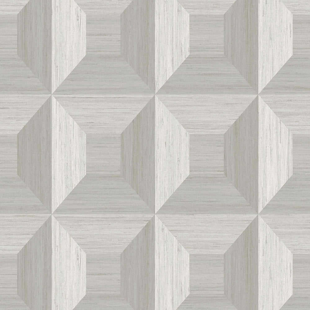 TC70618 gray squared away geometric embossed vinyl wallpaper from the More Textures collection by Seabrook Designs