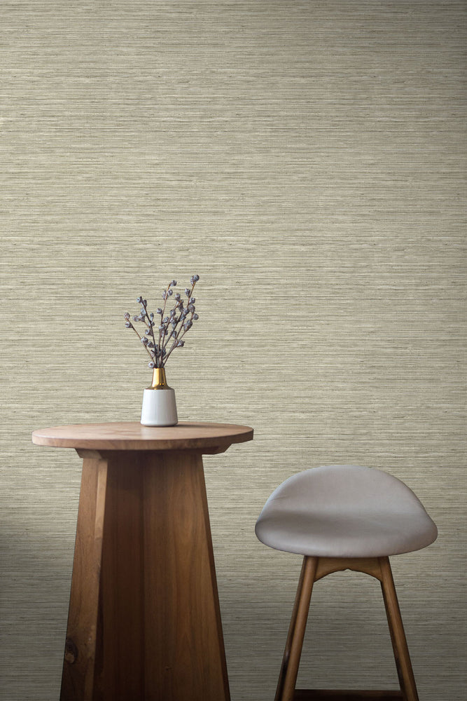 TC70707 table tan sisal hemp grasscloth embossed vinyl wallpaper from the More Textures collection by Seabrook Designs