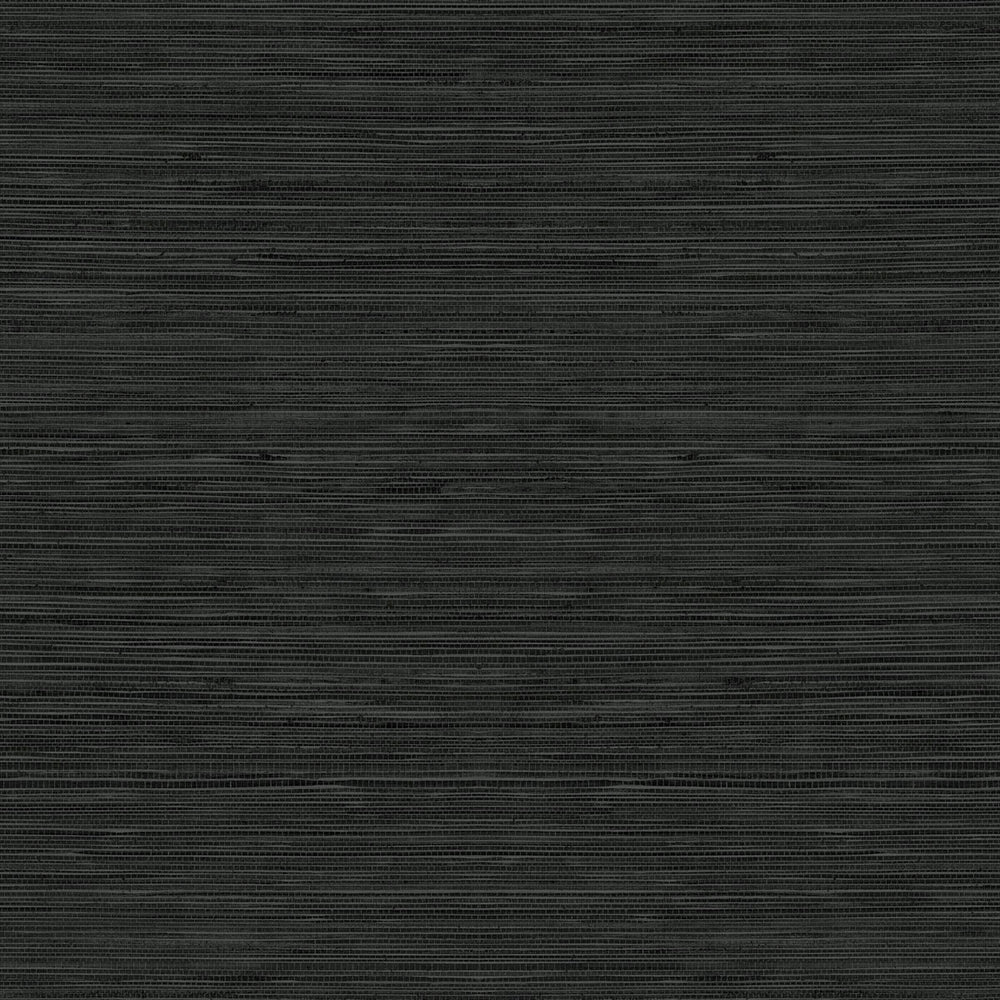 TC70710 black sisal hemp grasscloth embossed vinyl wallpaper from the More Textures collection by Seabrook Designs