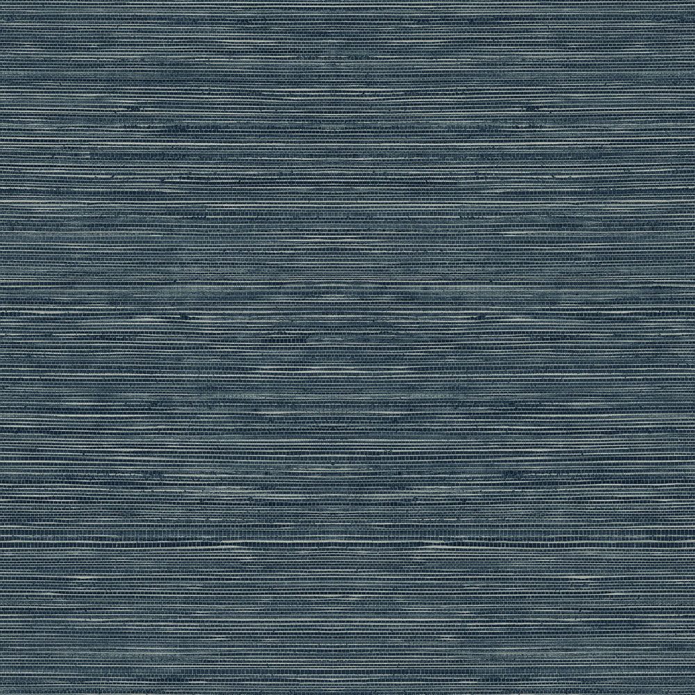 TC70712 blue sisal hemp grasscloth embossed vinyl wallpaper from the More Textures collection by Seabrook Designs