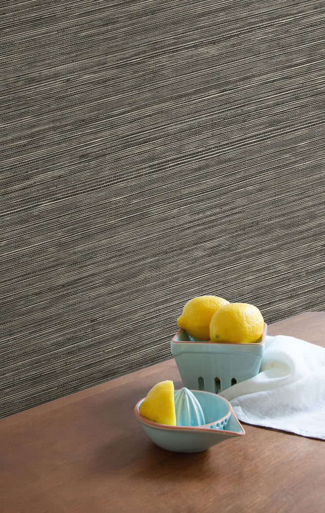 TC70717 kitchen tan sisal hemp grasscloth embossed vinyl wallpaper from the More Textures collection by Seabrook Designs