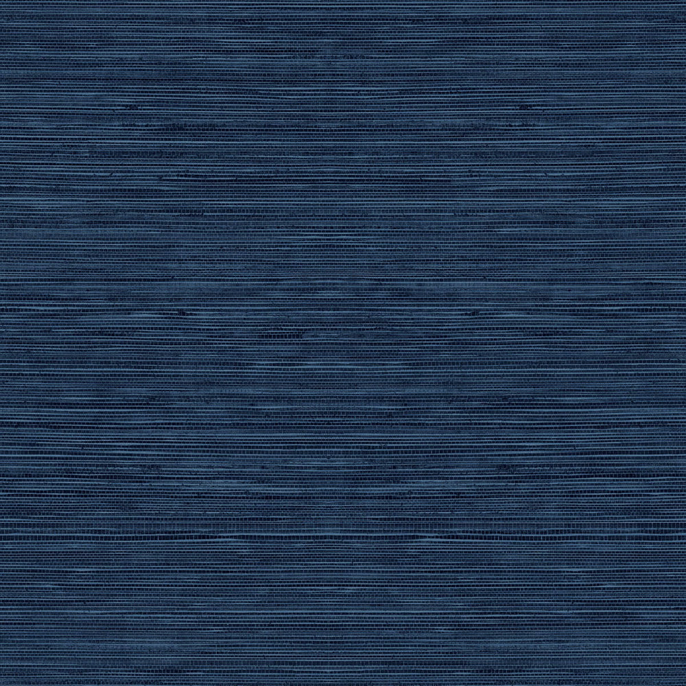 TC70722 blue sisal hemp grasscloth embossed vinyl wallpaper from the More Textures collection by Seabrook Designs