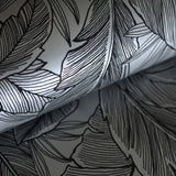 UK10004 palm leaf botanical wallpaper roll from the Black and White collection by Etten Gallerie