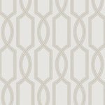 Etten Gallerie Black & White Shimmer Trellis Geometric Wallpaper