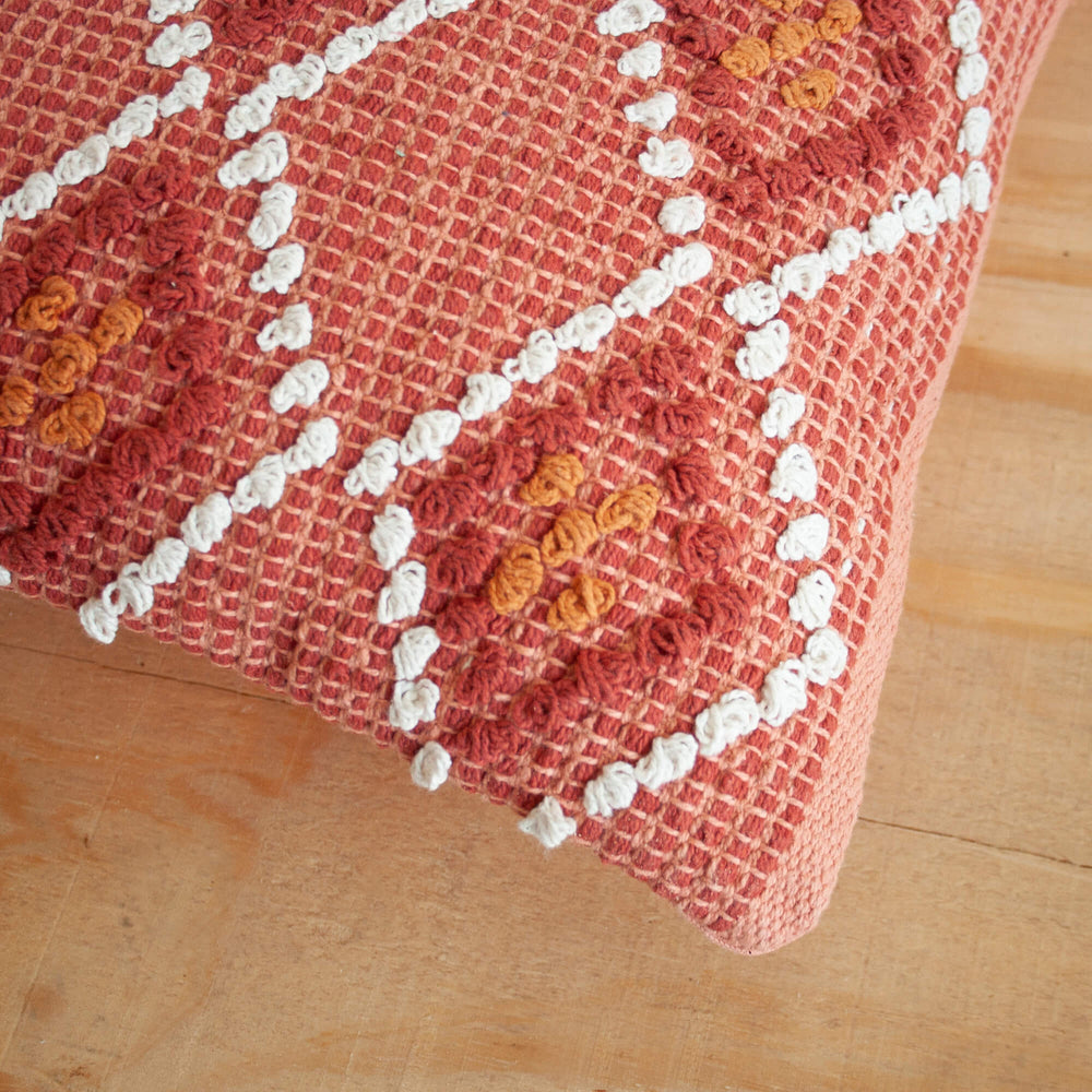 Waneta hand woven throw pillow detail from Say Decor