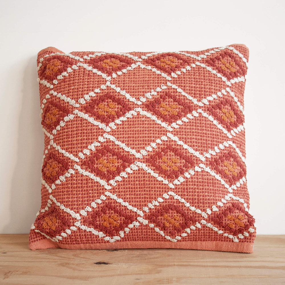 Waneta Hand Woven Cotton Throw Pillow
