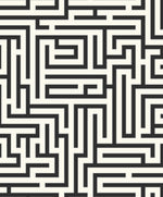 Etten Gallerie Black & White Yanaka Maze Geometric Wallpaper