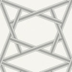 Etten Gallerie Black & White Asakusa Railroad Geometric Wallpaper