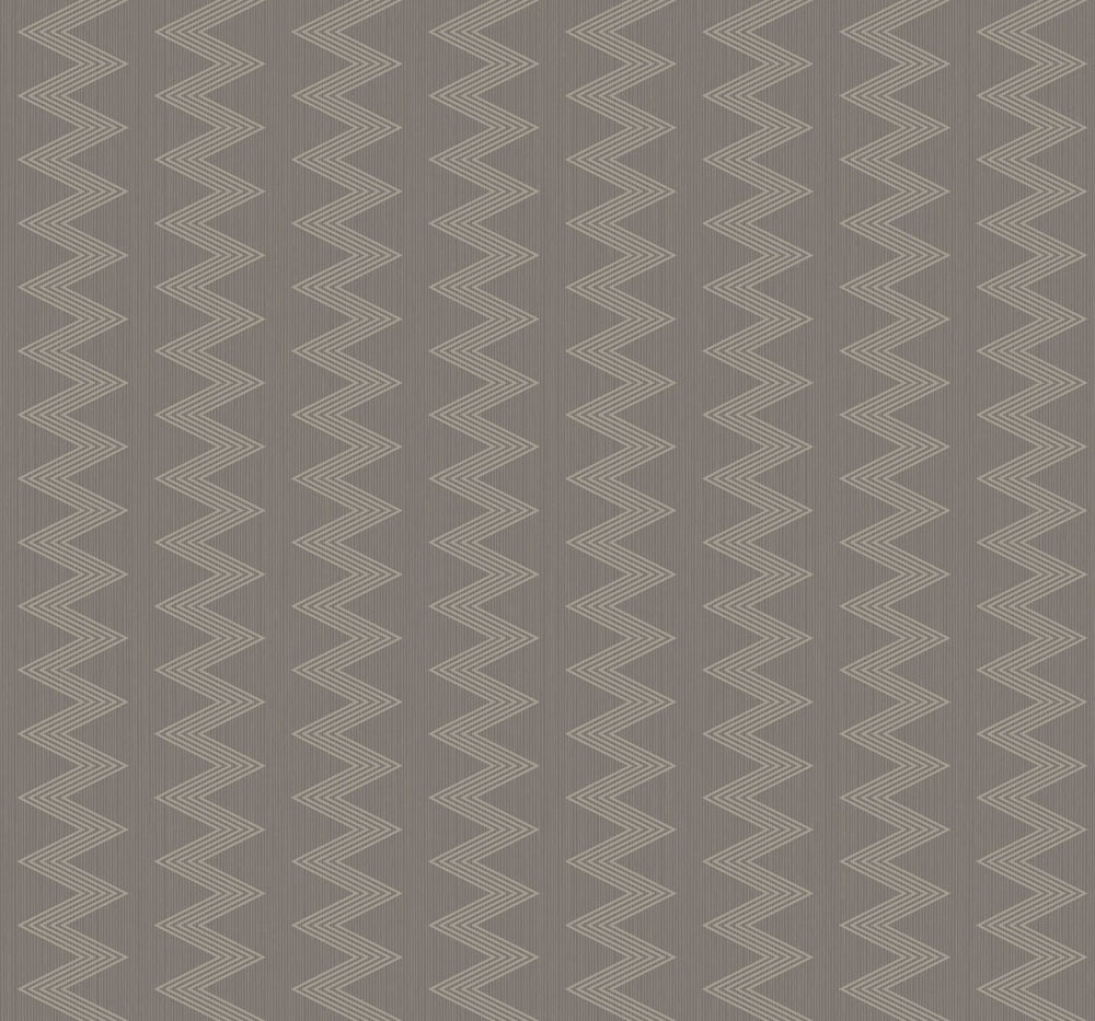 Etten Gallerie Black & White Odaiba Zig Zag Stripe Wallpaper