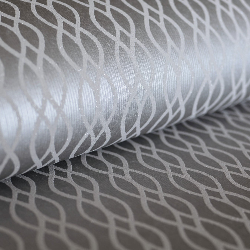 ZN52400 Koenji lace stripe geometric wallpaper roll from the Black and White collection by Etten Gallerie