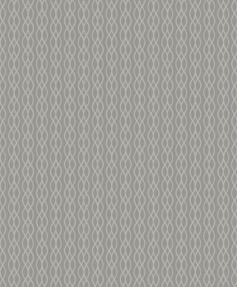Etten Gallerie Black & White Koenji Lace Stripe Wallpaper