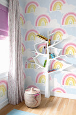 DA60202 kids rainbow nursery wallpaper from the Day Dreamers collection by Seabrook Designs