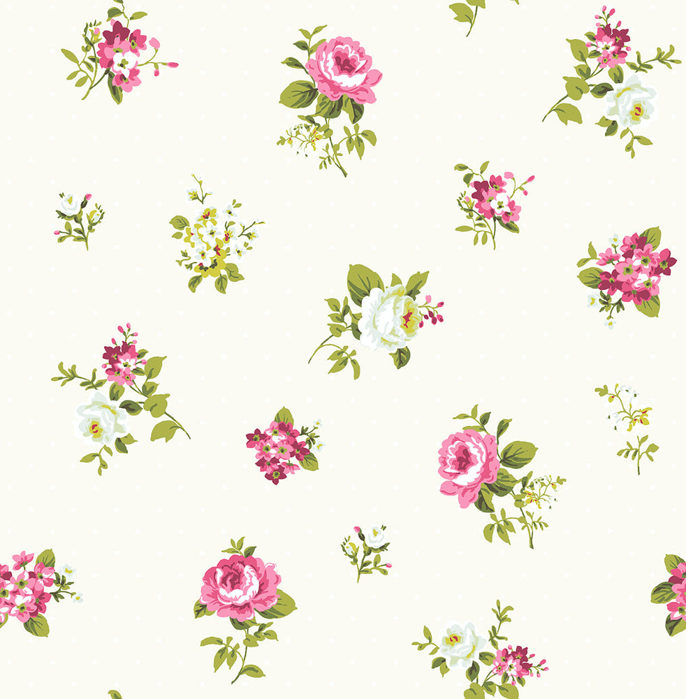 SD90808CH Dena tossed floral unpasted wallpaper