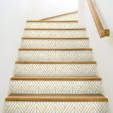 NextWall Metallic Gold Diamond Geometric Peel and Stick Removable Wallpaper