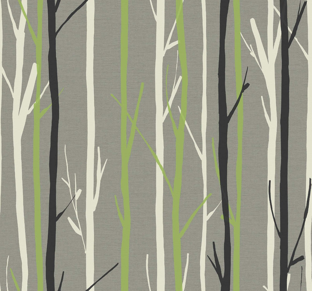 OA20208 branch botanical wallpaper from the Indigo collection by Seabrook Designs
