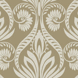 TA21006 bonaire retro damask wallpaper from the Tortuga collection by Seabrook Designs