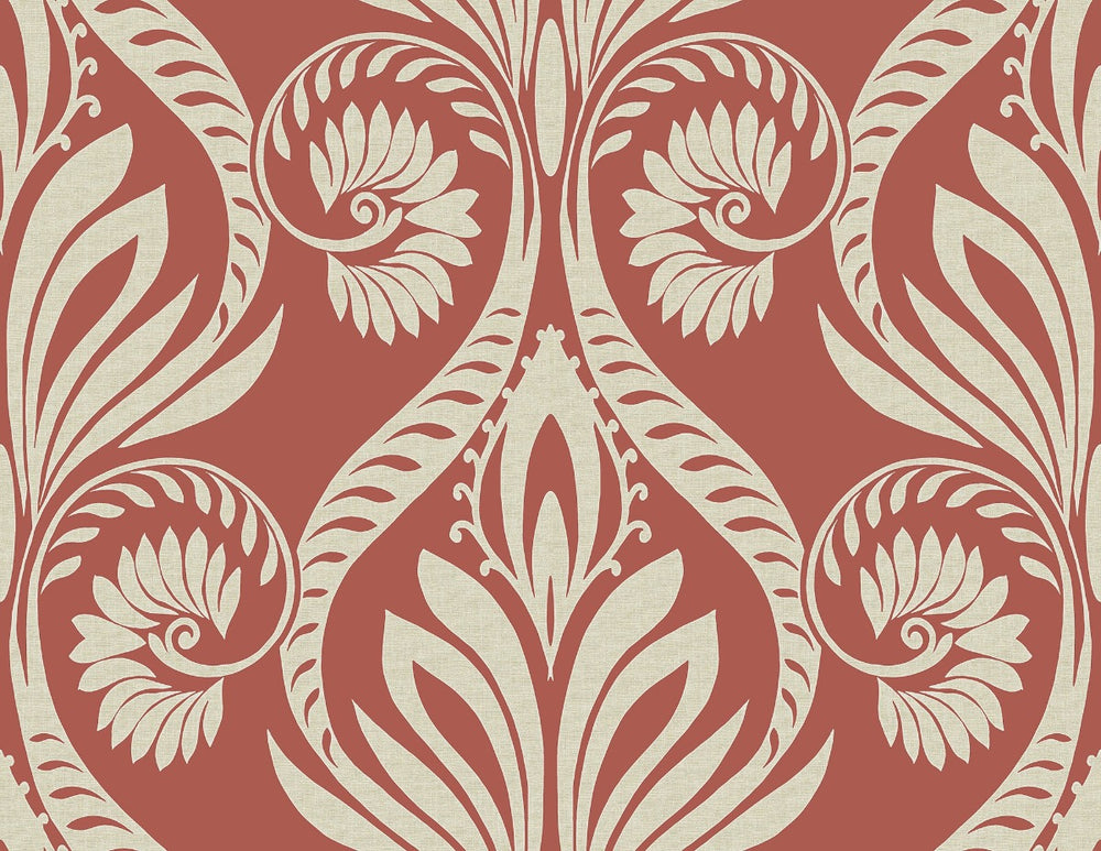 TA21001 bonaire retro damask wallpaper from the Tortuga collection by Seabrook Designs