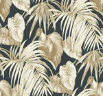 TA21600 dominica tropical leaf wallpaper from the Tortuga collection by Seabrook Designs