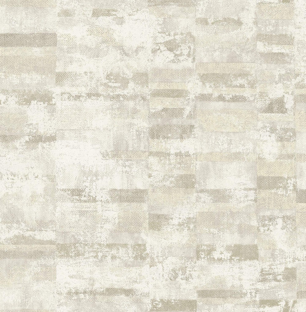 MW30405 Guttenberg stuccoed brick faux wallpaper from the Metalworks collection by Seabrook Designs