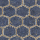 MW31502 Wright geometric hexagon wallpaper from the Metalworks collection by Seabrook Designs