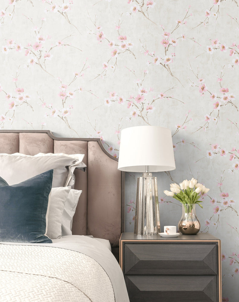 Seabrook Designs Koi Silk Road Floral Wallpaper