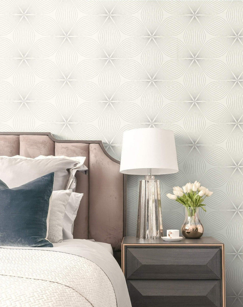 RL61108 Lucy starburst geometric wallpaper decor from the Retro Living collection by Seabrook Designs