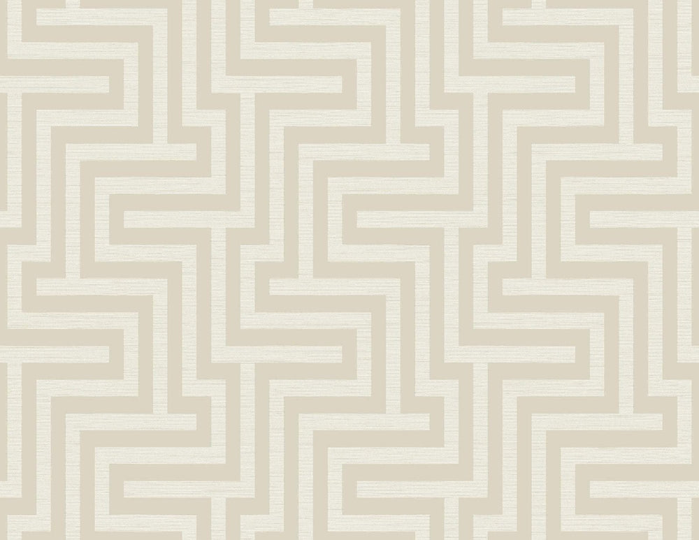 TA20405 Martinique maze geometric wallpaper from the Tortuga collection by Seabrook Designs