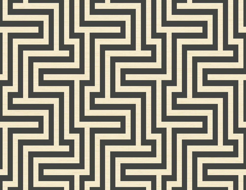 TA20400 Martinique maze geometric wallpaper from the Tortuga collection by Seabrook Designs