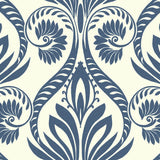 TA21002 bonaire retro damask wallpaper from the Tortuga collection by Seabrook Designs