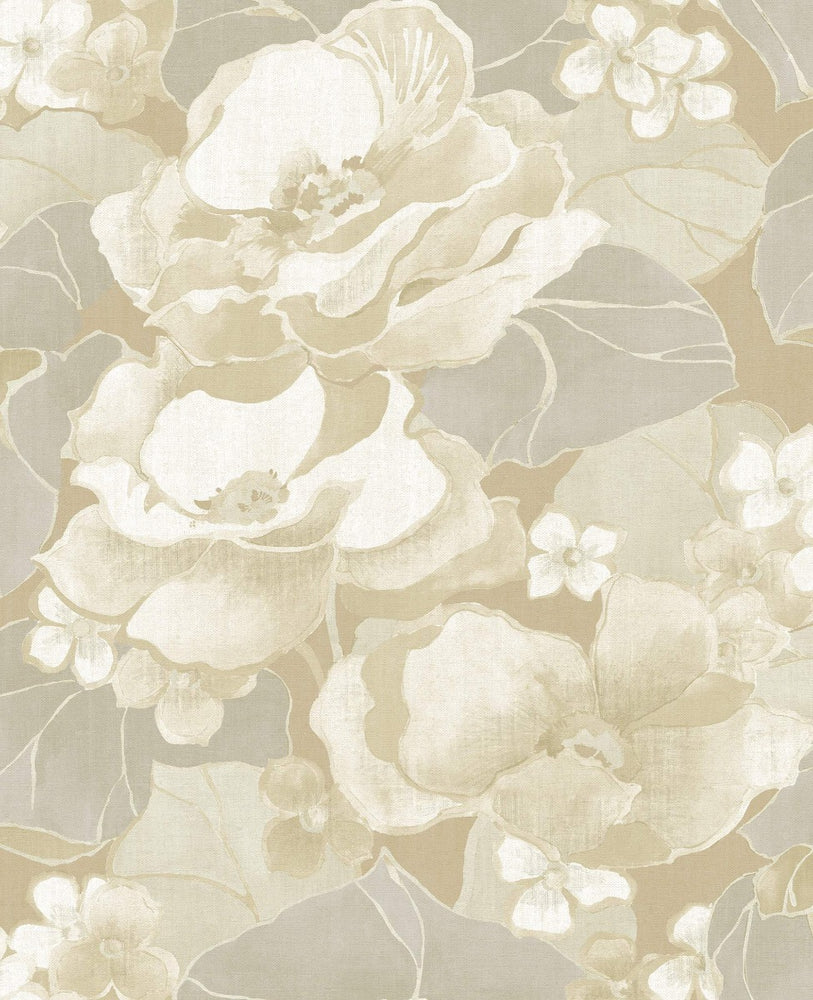 NE50505 Adorn floral wallpaper from the Nouveau Luxe collection by Seabrook Designs