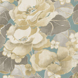 NE50502 Adorn floral wallpaper from the Nouveau Luxe collection by Seabrook Designs