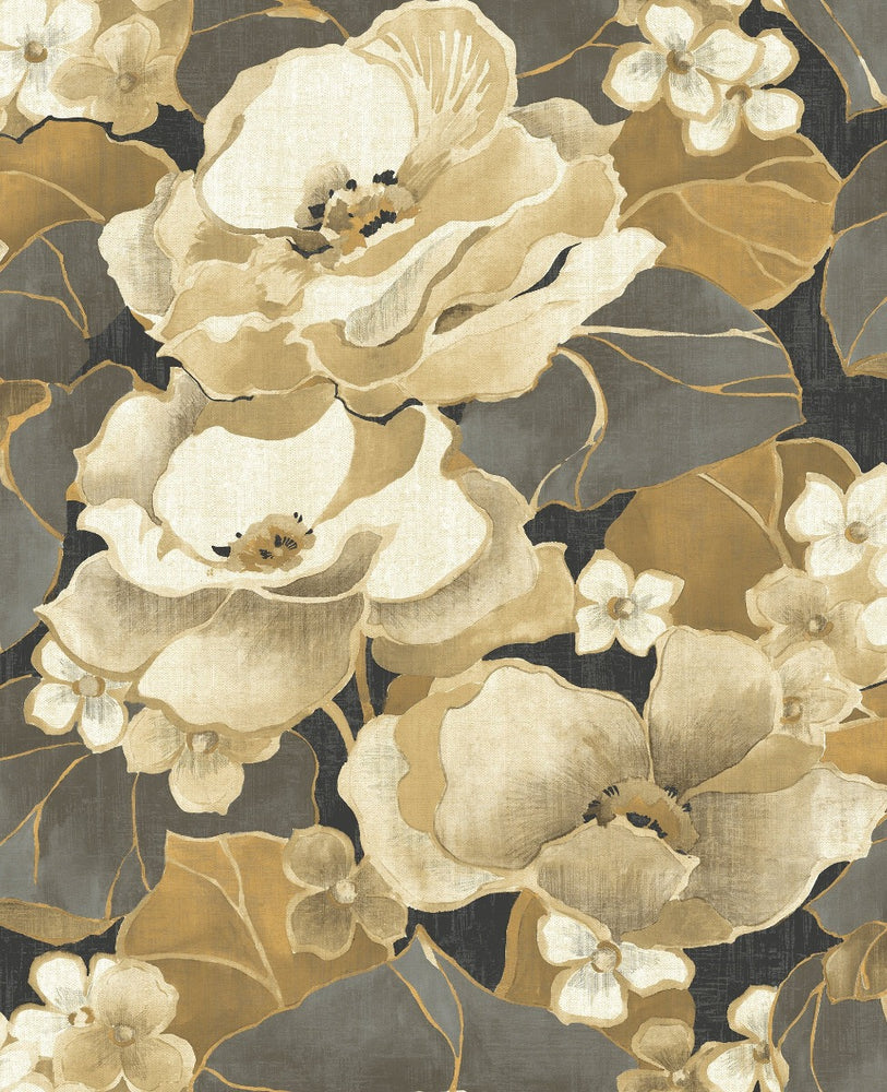 NE50500 Adorn floral wallpaper from the Nouveau Luxe collection by Seabrook Designs