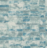 Seabrook Designs Metalworks Gutenberg Stuccoed Brick Faux Wallpaper