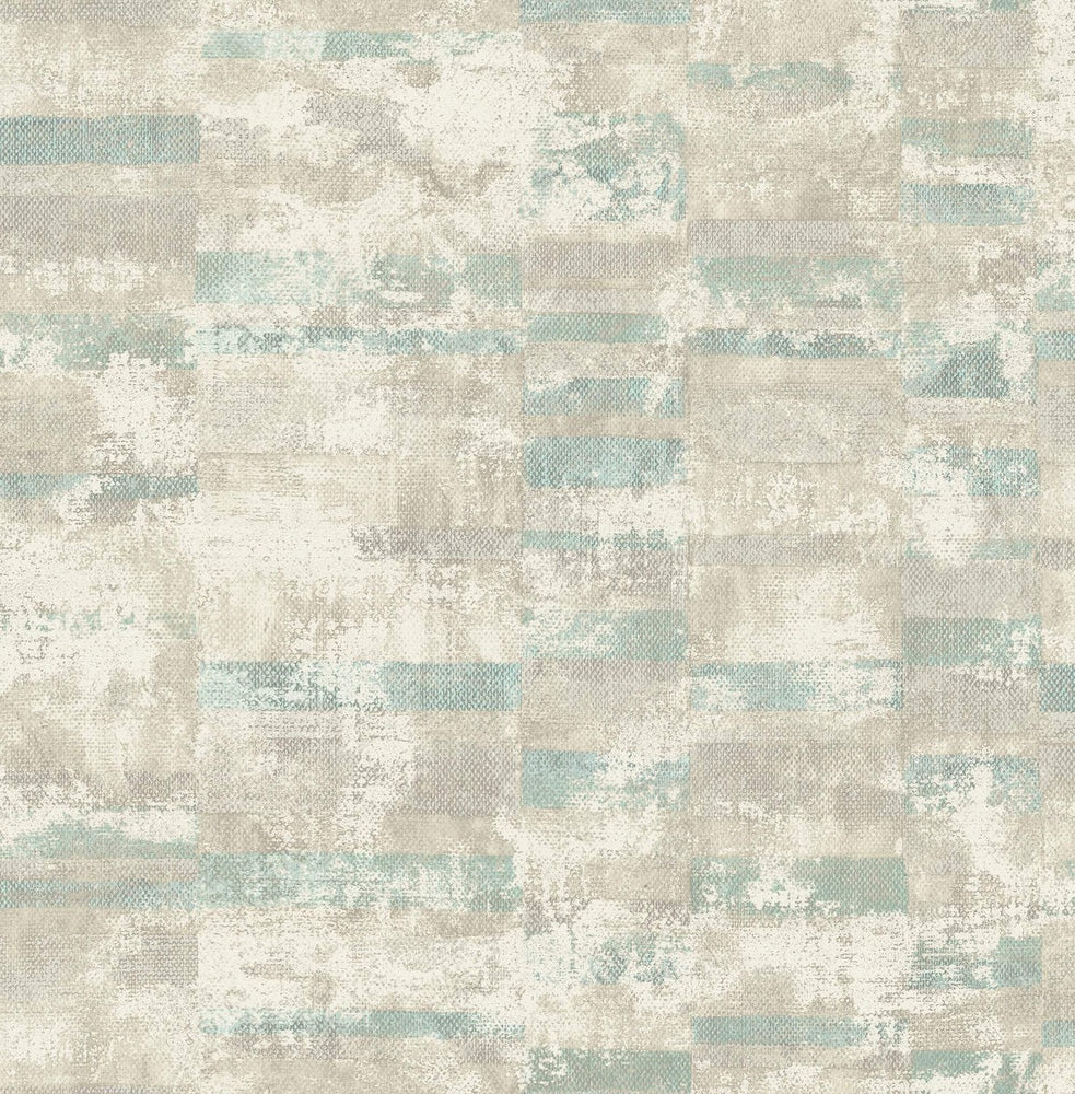 MW30404 Guttenberg stuccoed brick faux wallpaper from the Metalworks collection by Seabrook Designs