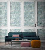 MW30402 Guttenberg stuccoed brick faux wallpaper decor from the Metalworks collection by Seabrook Designs