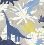 FA40002 pack party dinosaur wallpaper from the Playdate Adventure collection by Seabrook Designs
