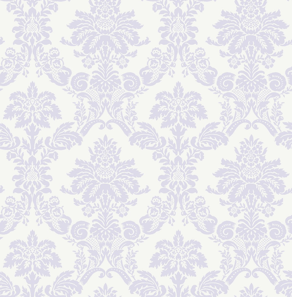FA40909 glitter damask kids wallpaper from the Playdate Adventure collection by Seabrook Designs