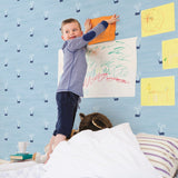 DA60302 tiny whales kids wallpaper bedroom from the Day Dreamers collection by Seabrook Designs