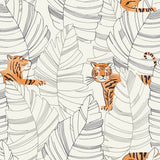 DA61200 hiding tigers animal wallpaper from the Day Dreamers collection by Seabrook Designs