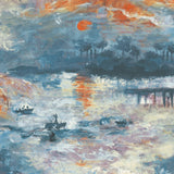 FI70002 nautical sunset scenic wallpaper from the French Impressionist collection by Seabrook Designs