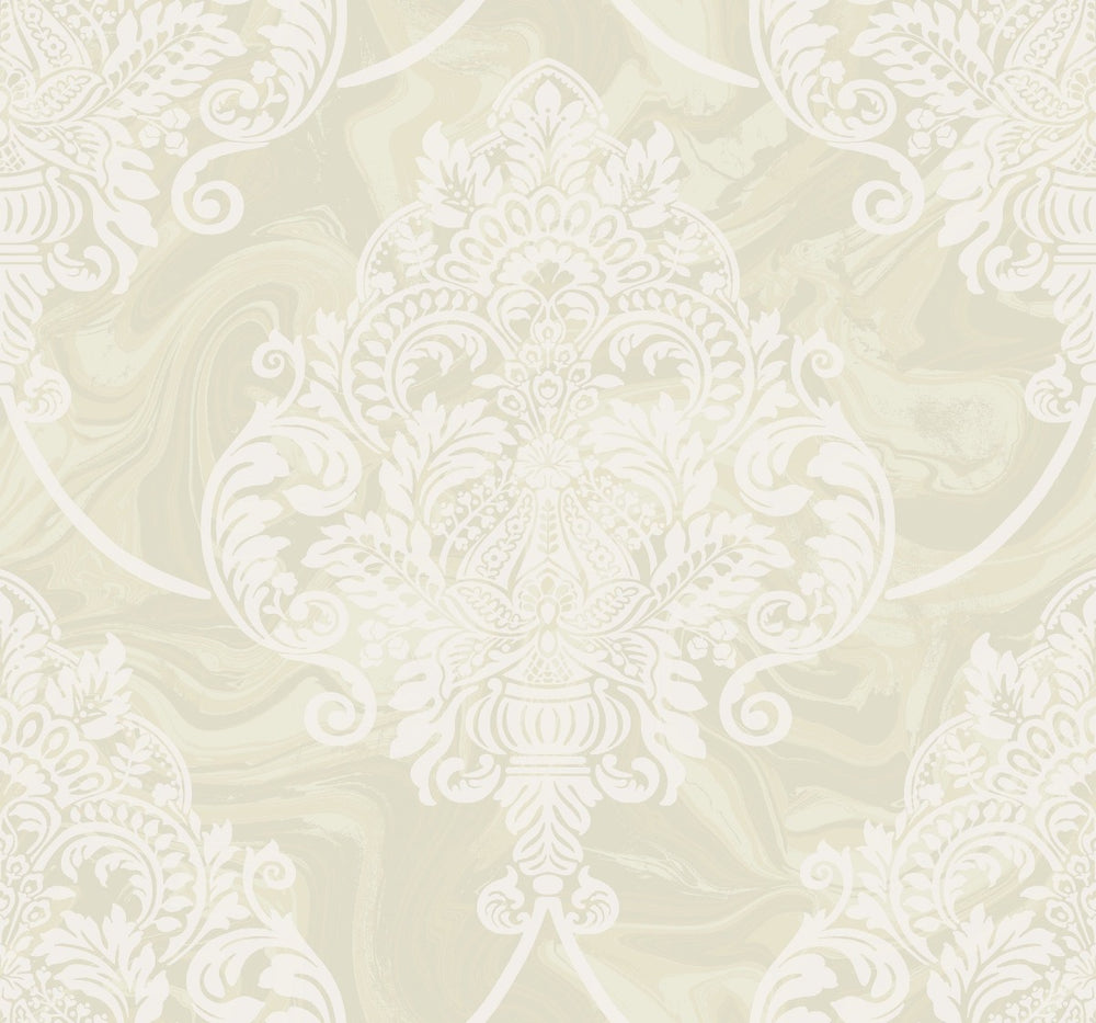 AW70805 puff damask wallpaper from the Casa Blanca 2 collection by Collins & Company