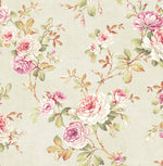 RG61405 floral trail wallpaper from the Garden Rose collection by Seabrook Designs